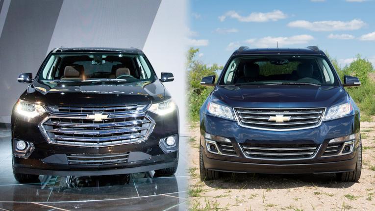 2017 Chevrolet Traverse Versus 2018 Chevrolet Traverse ...